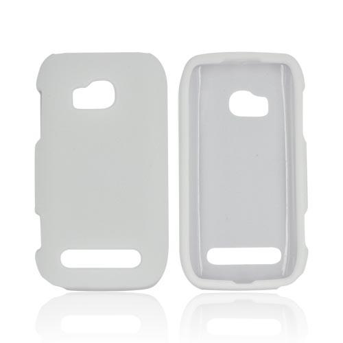 Nokia Lumia 710 Rubberized Hard Case - White