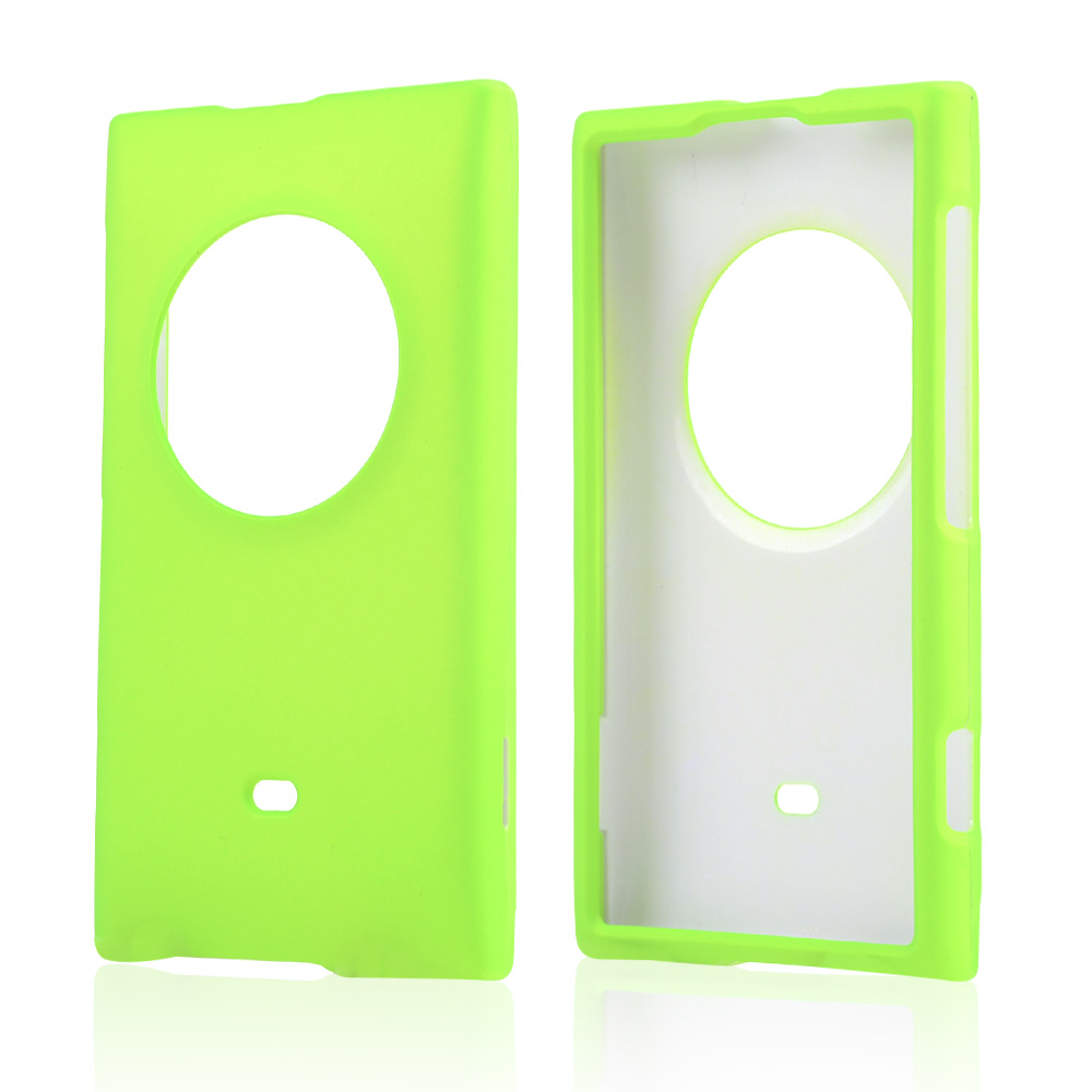 Neon Green Rubberized Hard Case for Nokia Lumia 1020