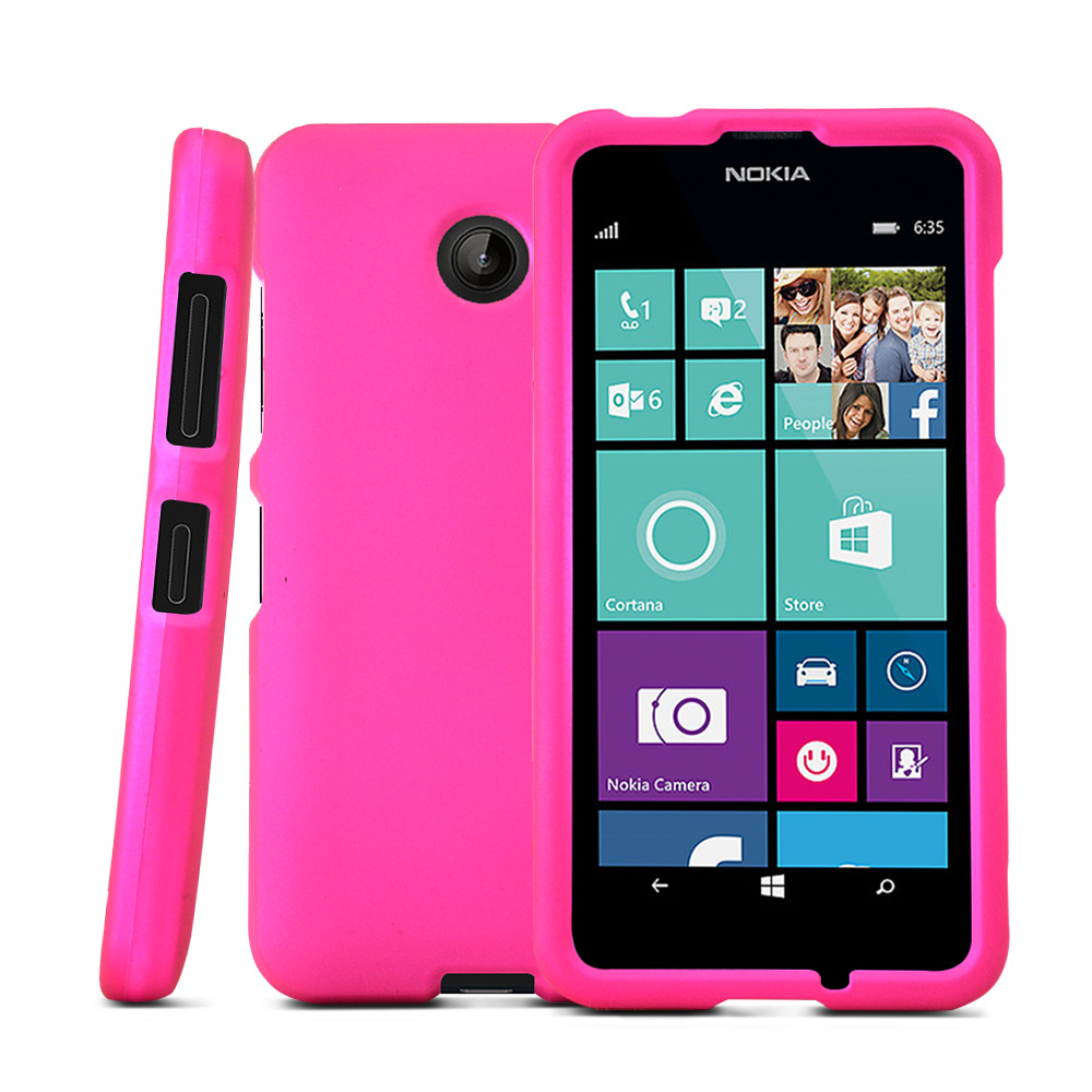 nokia lumia 635 case hot pink protective rubberized