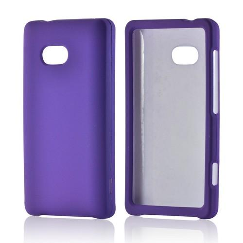 Purple Rubberized Hard Case for Nokia Lumia 810