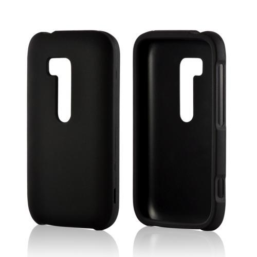Black Rubberized Hard Case for Nokia Lumia 822