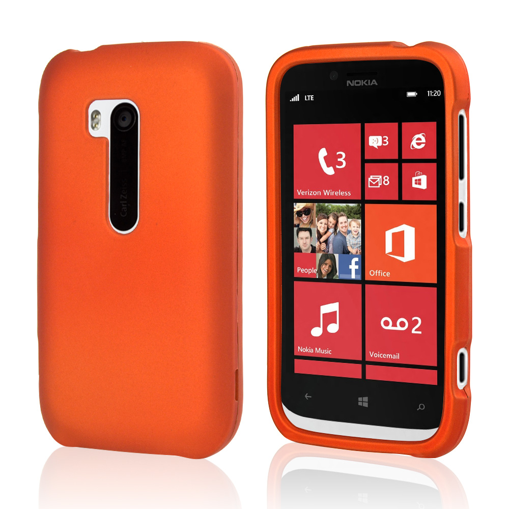 Orange Rubberized Hard Case for Nokia Lumia 822