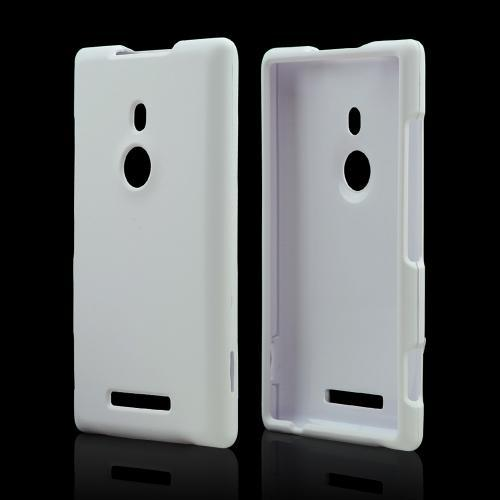 White Rubberized Hard Case for Nokia Lumia 925