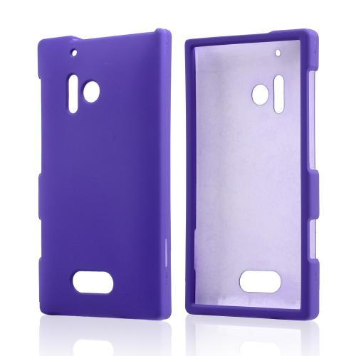 Purple Rubberized Hard Case for Nokia Lumia 928