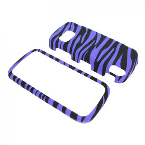 Nokia XpressMusic 5800 Rubberized Hard Case - Purple Zebra