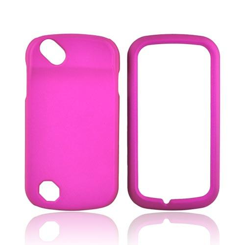 Pantech Laser P9050 Rubberized Hard Case - Rose Pink