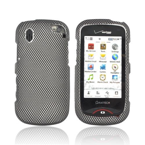 Pantech Hotshot Rubberized Hard Case - Carbon Fiber