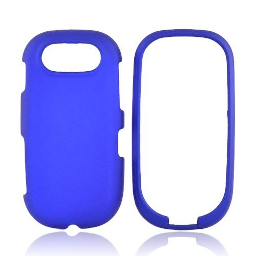 Pantech Ease P2020 Rubberized Hard Case - Blue