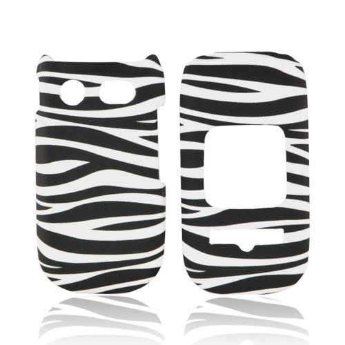 Pantech Breeze 3 Rubberized Hard Case - Black/ White Zebra