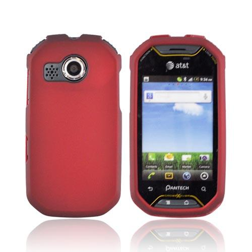 Pantech Crossover P8000 Rubberized Hard Case - Red