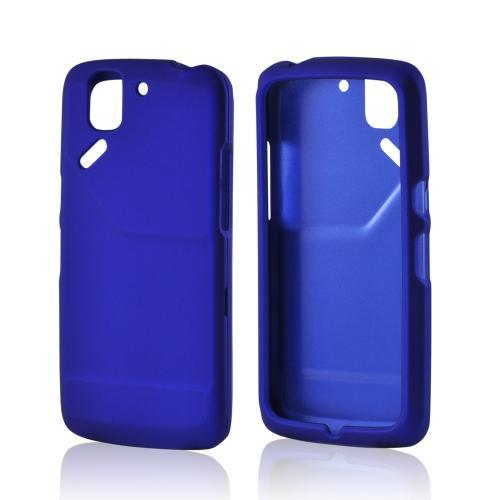 Blue Rubberized Hard Case for Pantech Flex