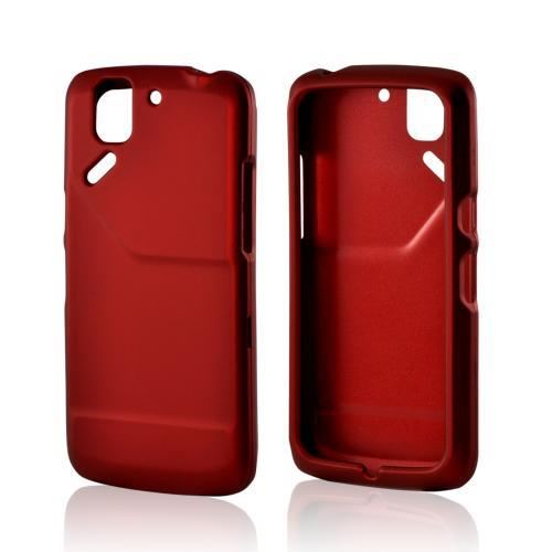 Red Rubberized Hard Case for Pantech Flex