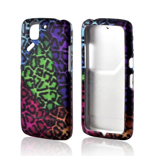 Multi-Colored Wild Leopard Rubberized Hard Case for Pantech Flex
