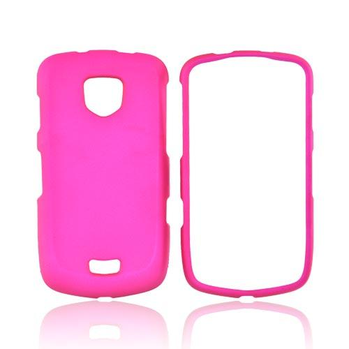 Samsung Droid Charge Rubberized Hard Case - Hot Pink