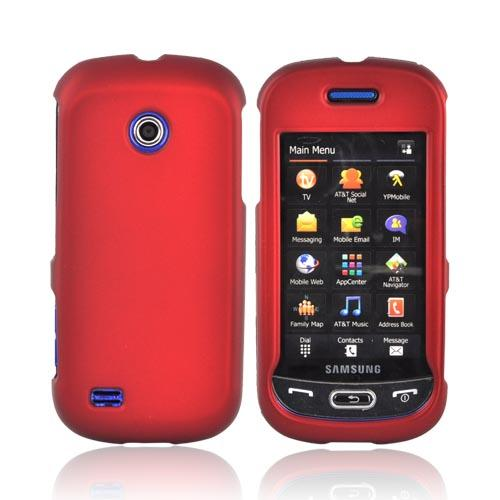 Samsung Eternity II A597 Rubberized Hard Case - Red