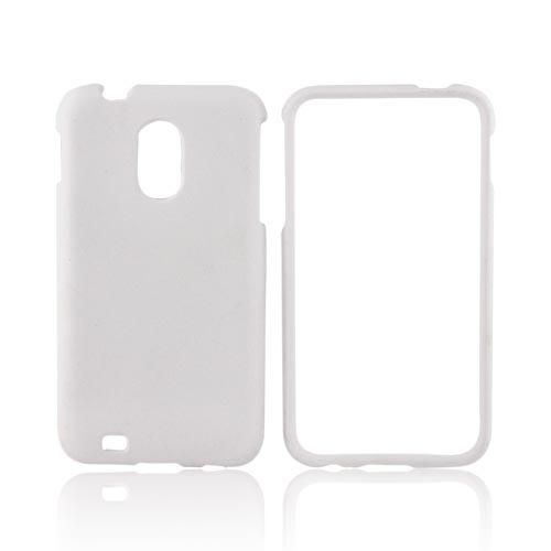 Samsung Epic 4G Touch Rubberized Hard Case - Solid White
