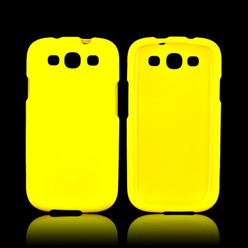 Samsung Galaxy S3 Rubberized Hard Case - Yellow