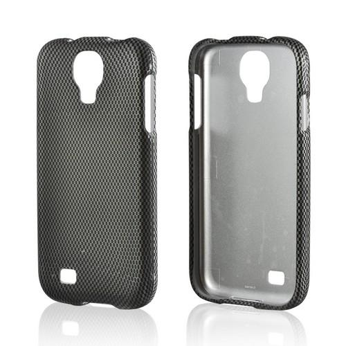 Black/ Gray Carbon Fiber Design Rubberized Hard Case for Samsung Galaxy S4
