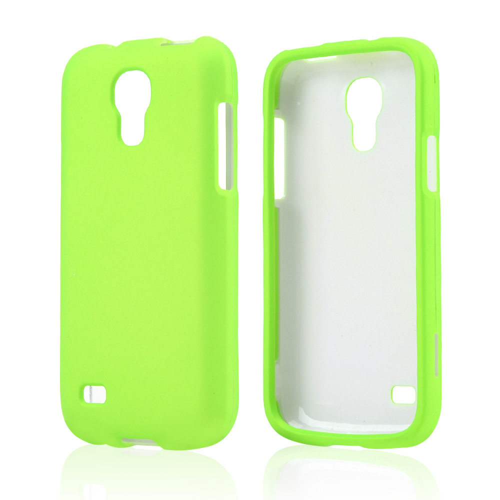 Neon Green Rubberized Hard Case for Samsung Galaxy S4 Mini