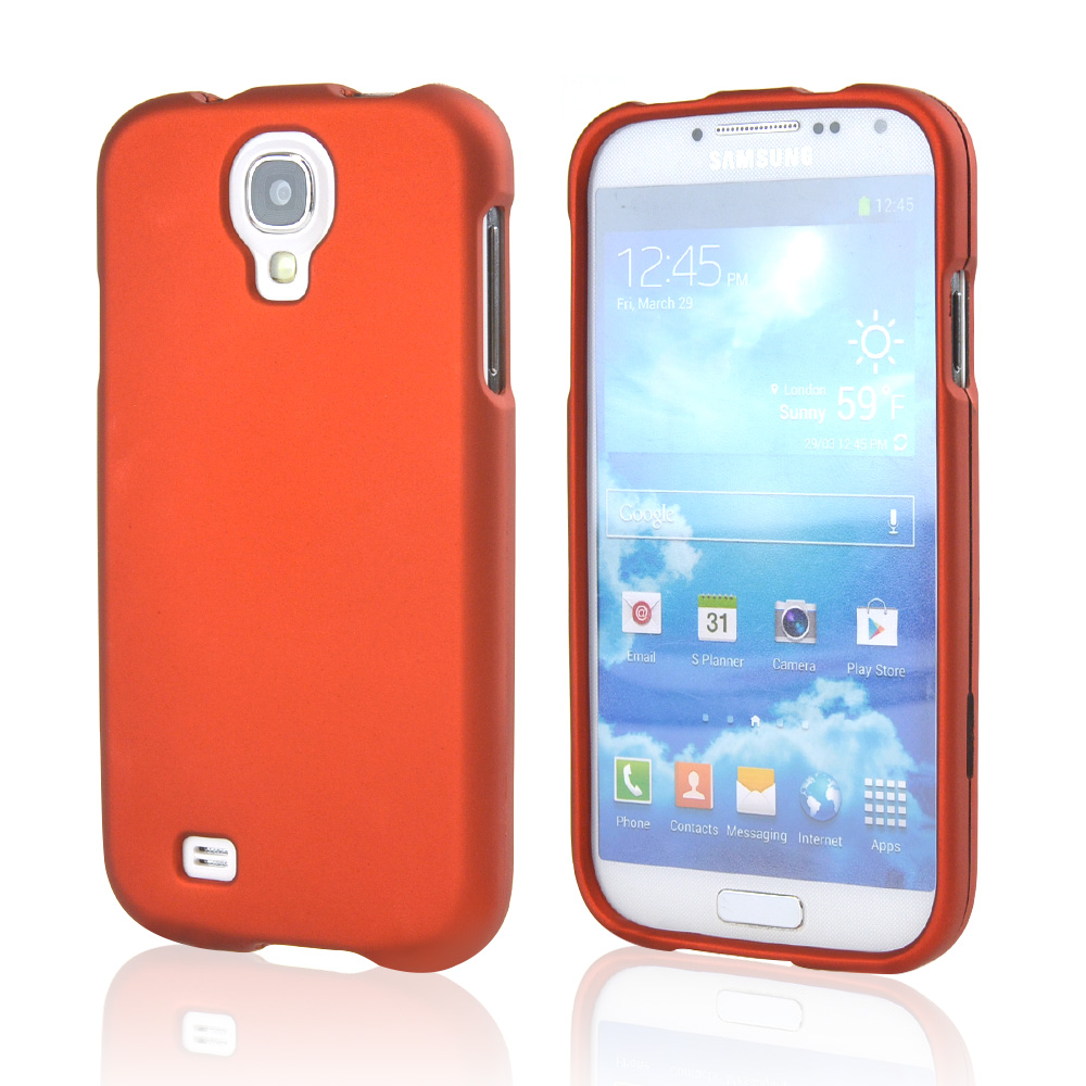 Orange Rubberized Hard Case for Samsung Galaxy S4