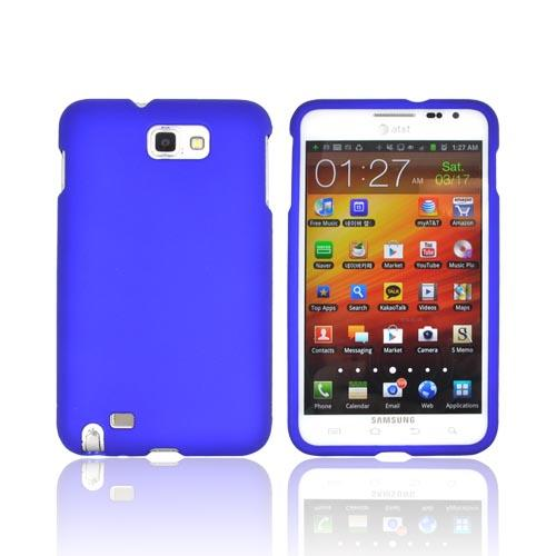 Samsung Galaxy Note Rubberized Hard Case - Blue
