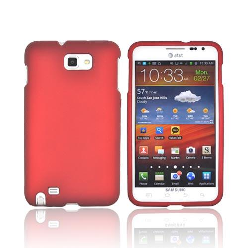 Samsung Galaxy Note Rubberized Hard Case - Red