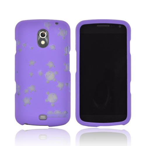 Samsung Galaxy Nexus Androitastic Rubberized Hard Case - Purple Bubble Bot Invasion