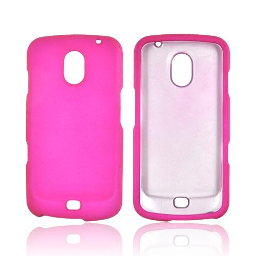 Samsung Galaxy Nexus Rubberized Hard Case - Hot Pink