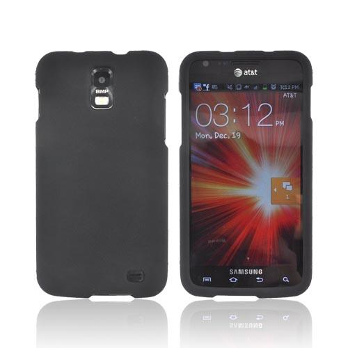 Samsung Galaxy S2 Skyrocket Rubberized Hard Case - Black