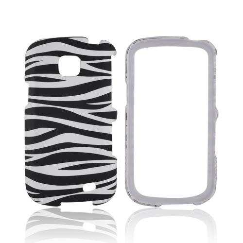 Samsung Illusion i110 Rubberized Hard Case - Black/White Zebra