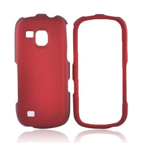 Samsung Continuum i400 Rubberized Hard Case - Red