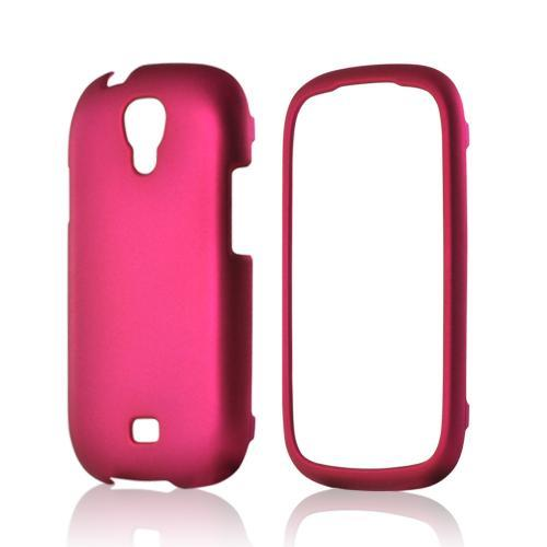 Hot Pink Rubberized Hard Case for Samsung Stratosphere 2
