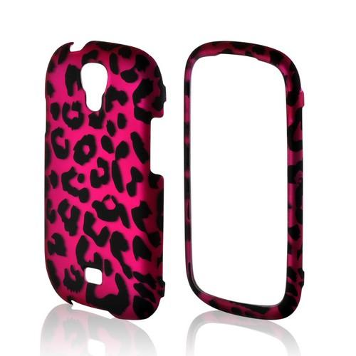 Hot Pink/ Black Leopard Rubberized Hard Case for Samsung Stratosphere 2