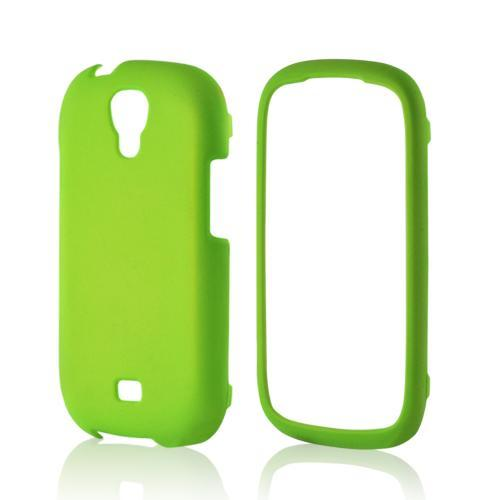 Neon Green Rubberized Hard Case for Samsung Stratosphere 2