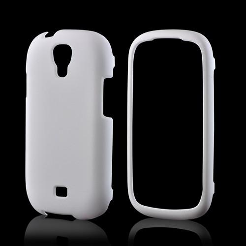 White Rubberized Hard Case for Samsung Stratosphere 2
