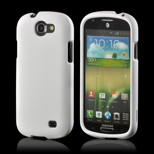 White Rubberized Hard Case for Samsung Galaxy Express