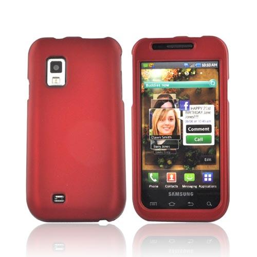 Luxmo Samsung Fascinate i500 Rubberized Hard Case - Red