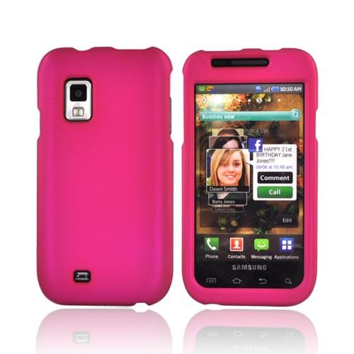 Samsung Fascinate i500 Rubberized Hard Case - Rose Pink