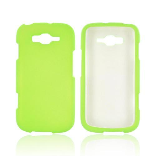 Samsung Focus 2 Rubberized Hard Case - Neon Green