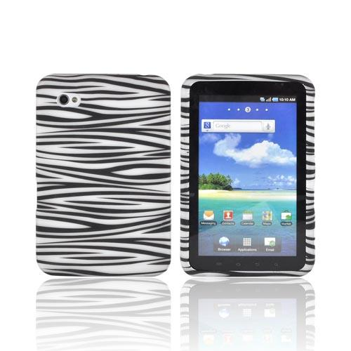 Samsung Galaxy Tab 7.0 Rubberized Hard Case - Black/ White Zebra