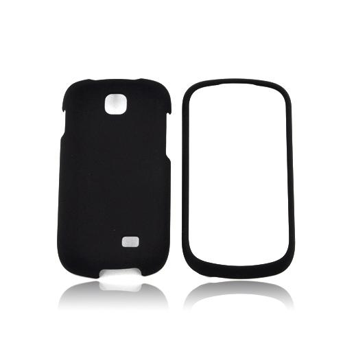 Samsung Galaxy Appeal Rubberized Hard Case - Black
