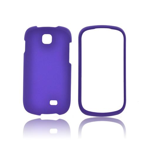 Samsung Galaxy Appeal Rubberized Hard Case - Purple