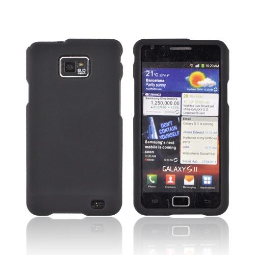AT&T Samsung Galaxy S2 Rubberized Hard Case - Black