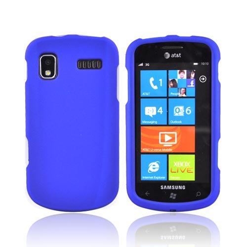 Samsung Focus i917 Rubberized Hard Case - Blue