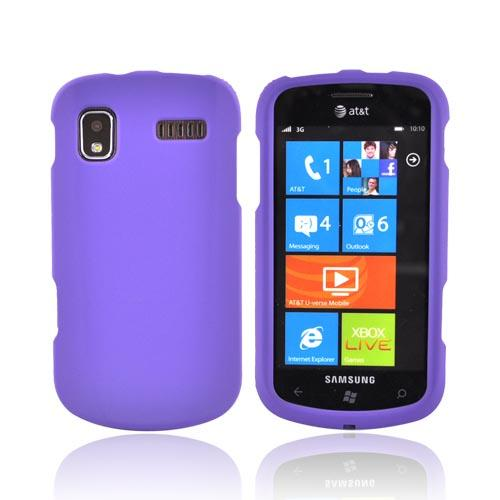 Samsung Focus i917 Rubberized Hard Case - Purple