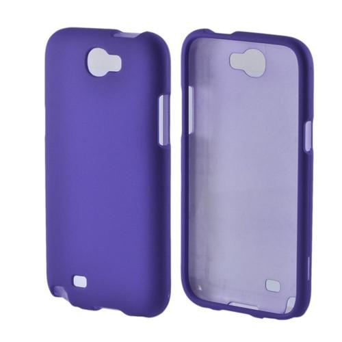 Samsung Galaxy Note 2 Rubberized Hard Case - Purple