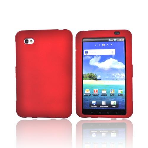 Samsung Galaxy Tab P1000 Rubberized Hard Case - Red