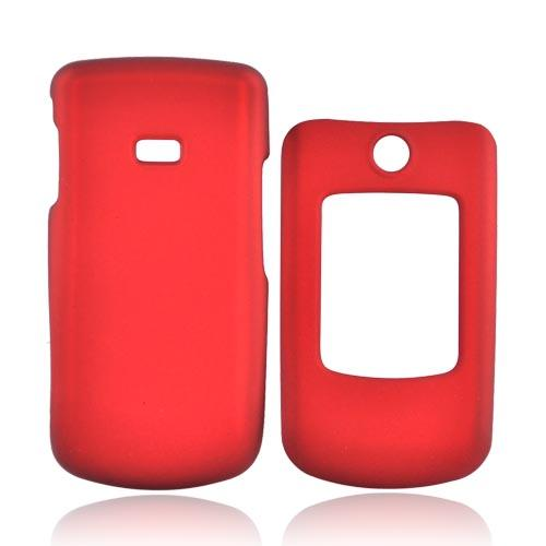 Samsung Contour R250 Rubberized Hard Case - Red