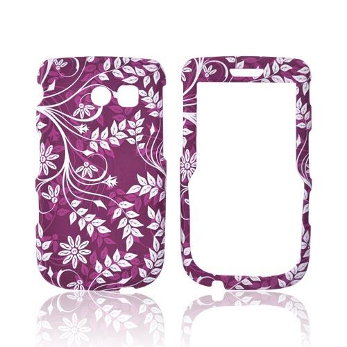Samsung Freeform 2 R360 Rubberized Hard Case - White Vines on Pink