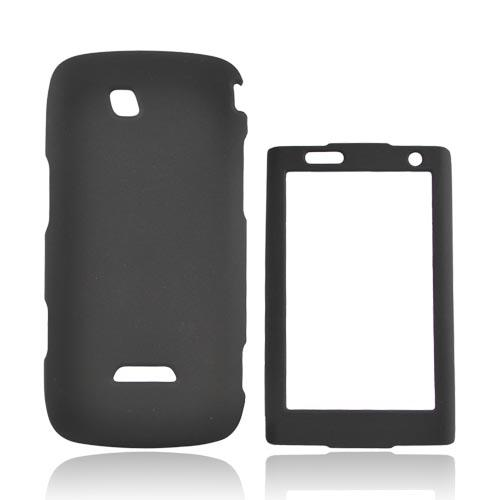 Samsung Sidekick 4G Rubberized Hard Case - Black
